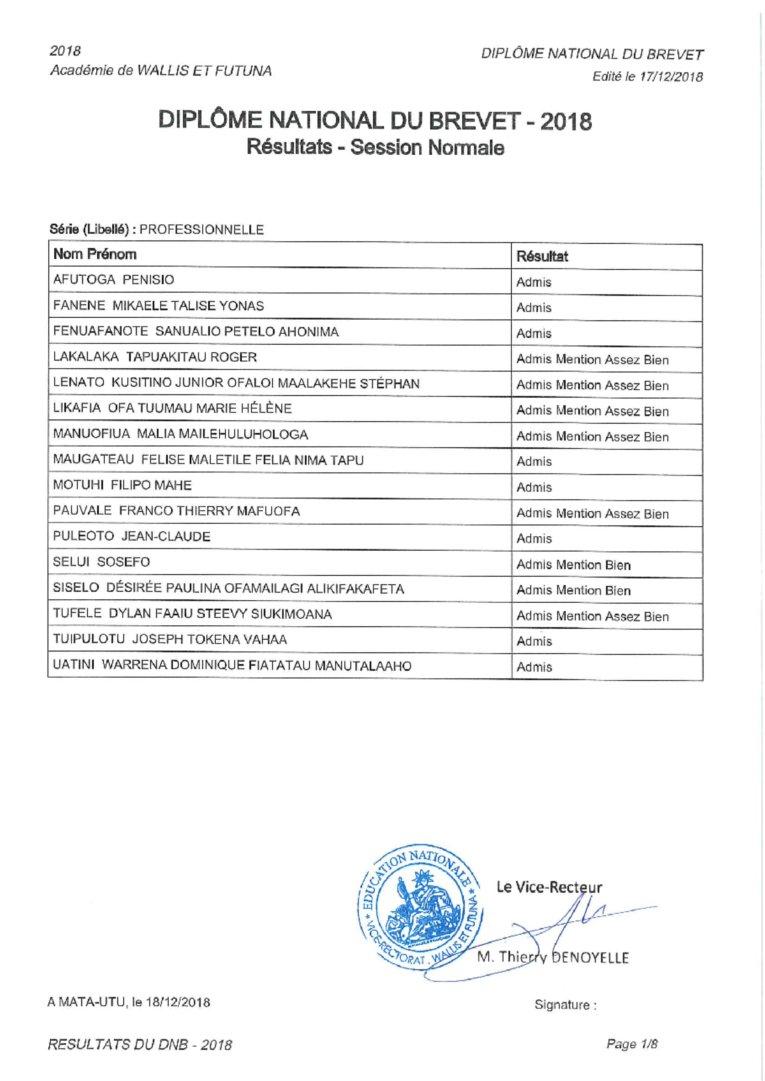 resultat brevet des college 2019